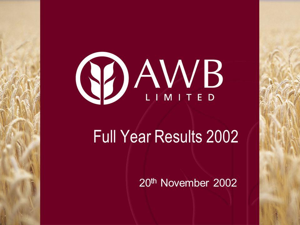Full Year Results 2002 20 th November 2002