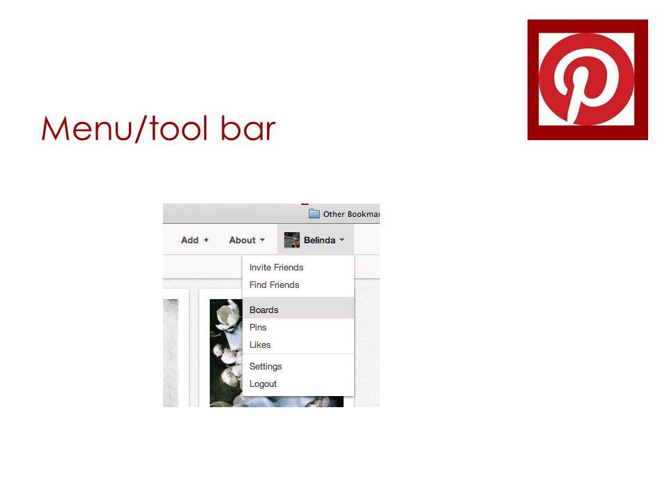 Menu/tool bar