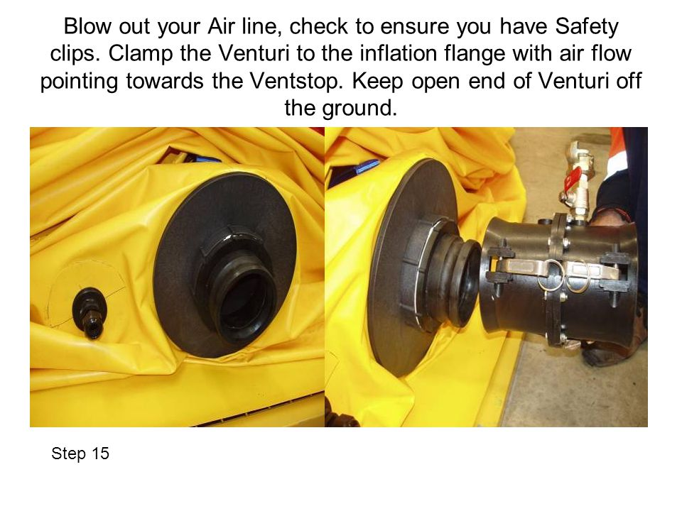 Blow out your Air line, check to ensure you have Safety clips.
