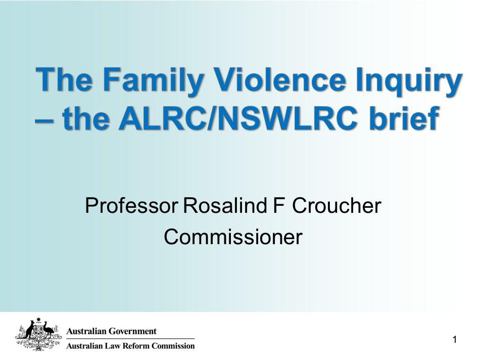11 Professor Rosalind F Croucher Commissioner