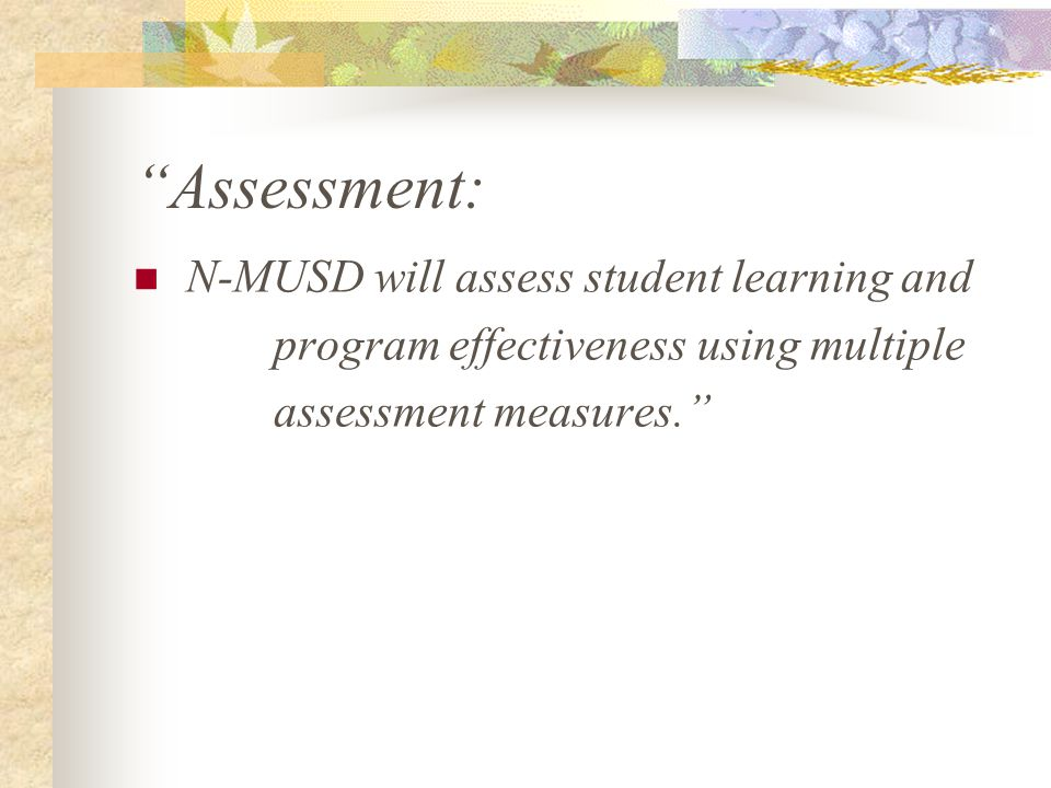 Materials Support: N-MUSD will create a science materials support system that will allow immediate access to inquiry-based, hands-on kits to facilitate continual science education, which supports the California science standards.