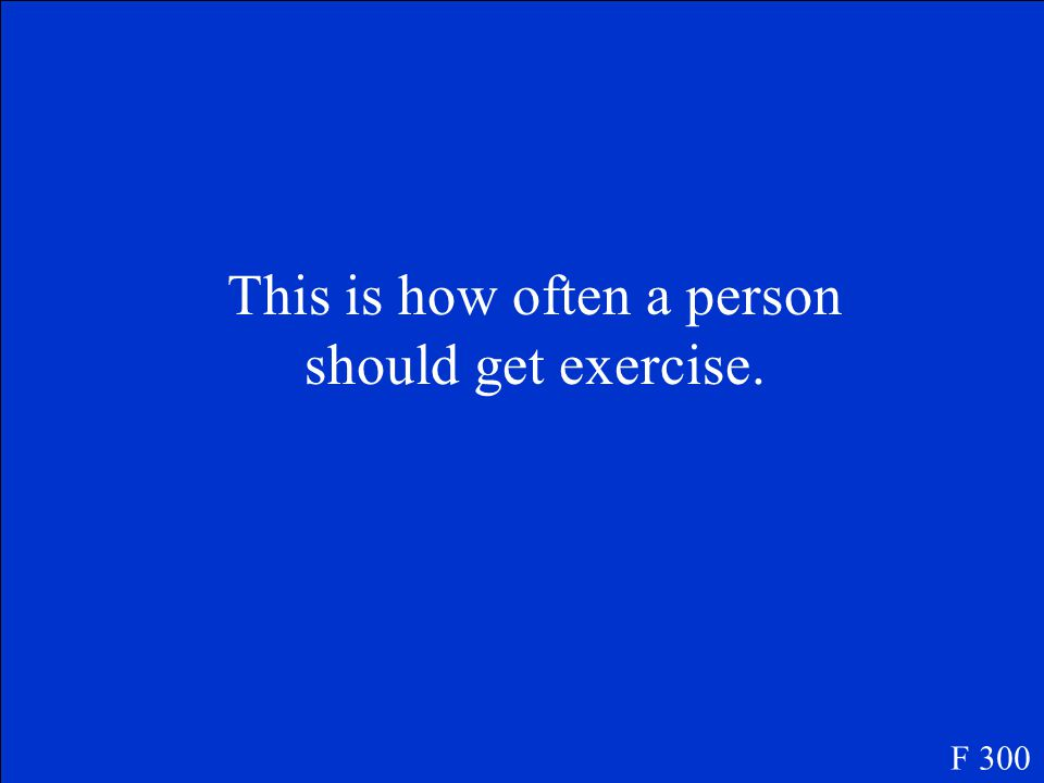 What is exercise F 200