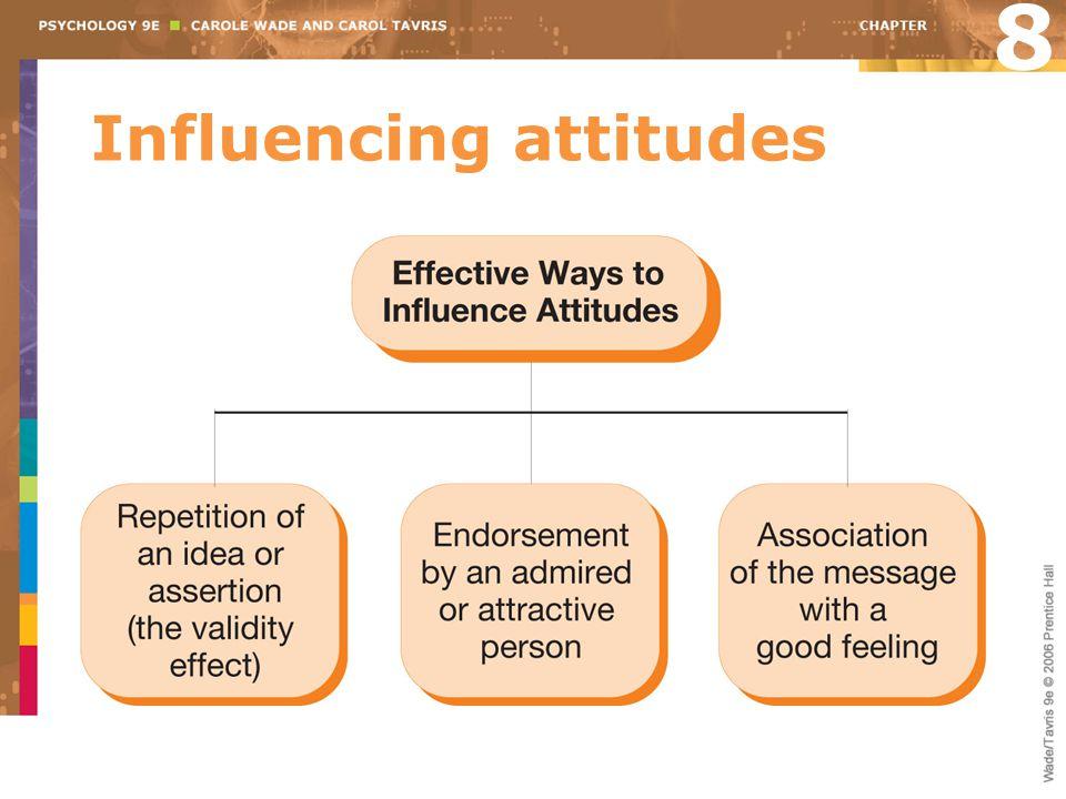 Influencing attitudes 8