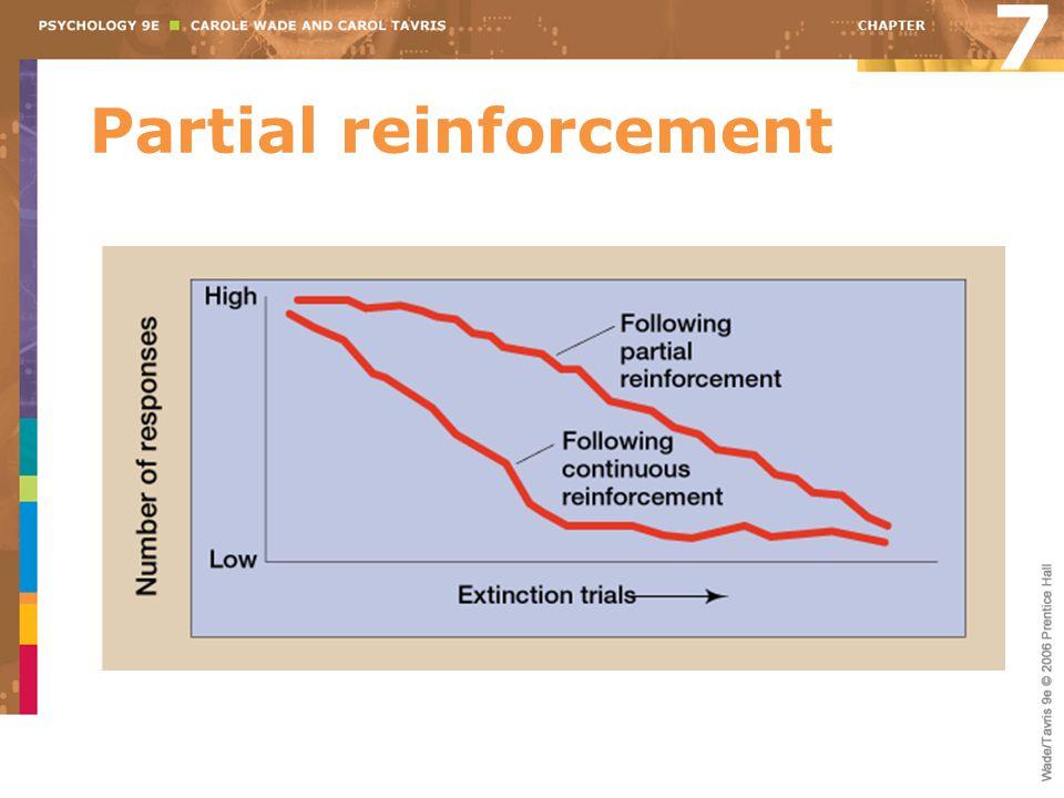 Partial reinforcement 7