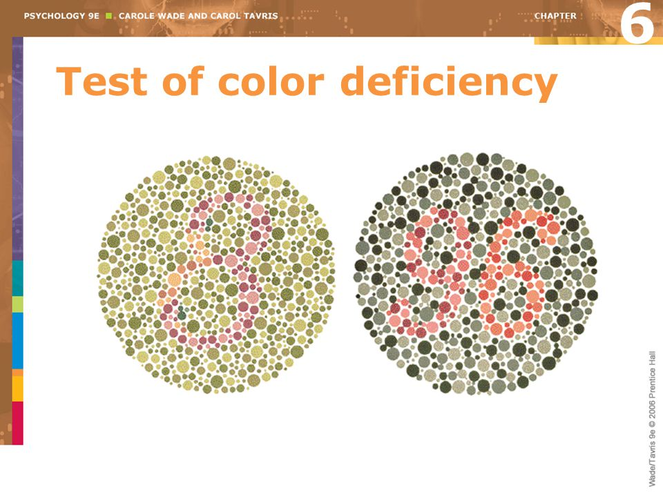 Test of color deficiency 6