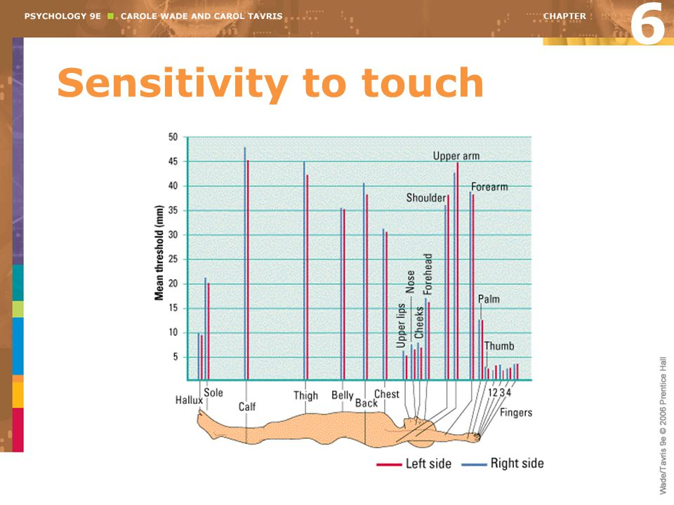 Sensitivity to touch 6