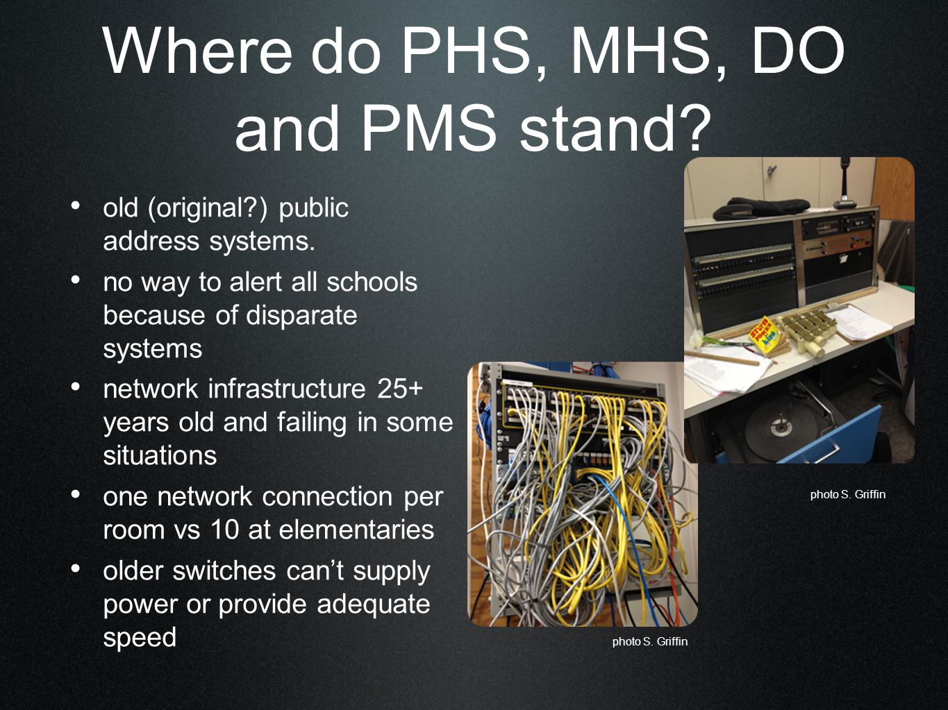 Where do PHS, MHS, DO and PMS stand. old (original ) public address systems.
