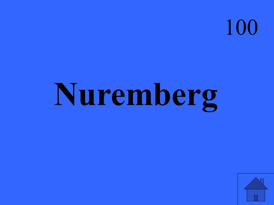 Nuremberg 100