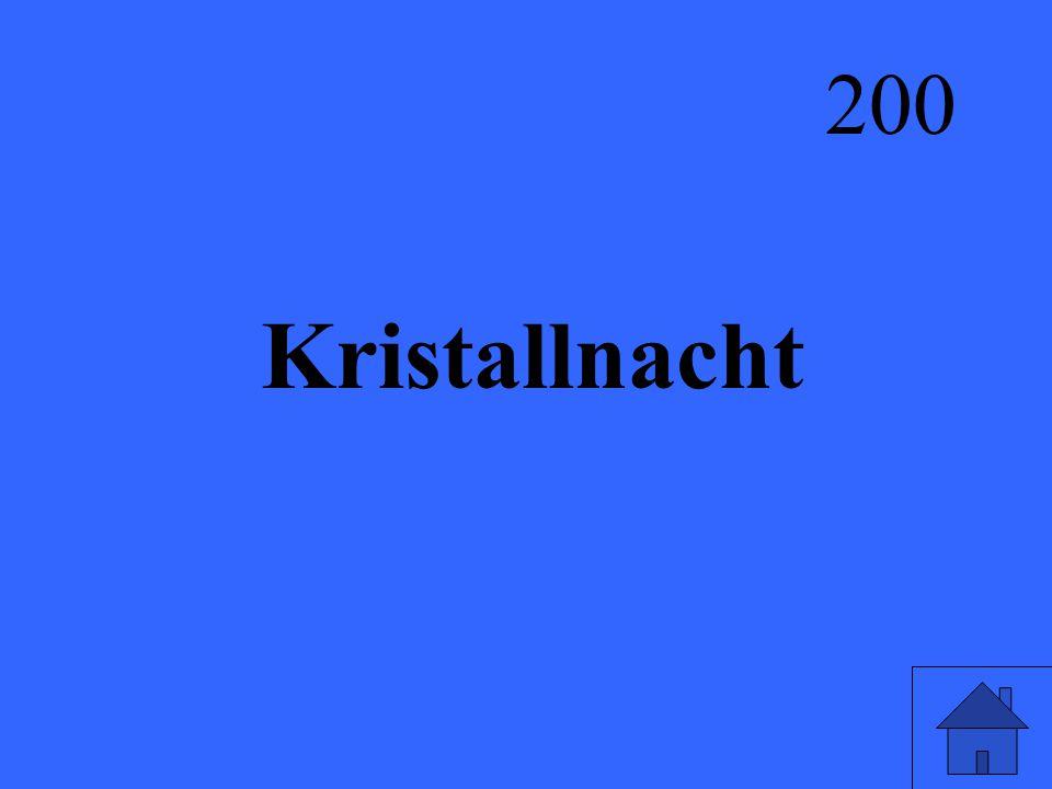 Kristallnacht 200