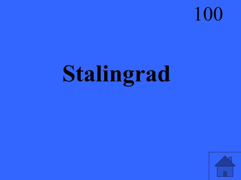 Stalingrad 100