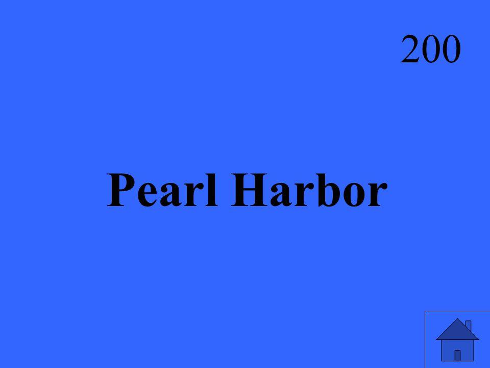 Pearl Harbor 200