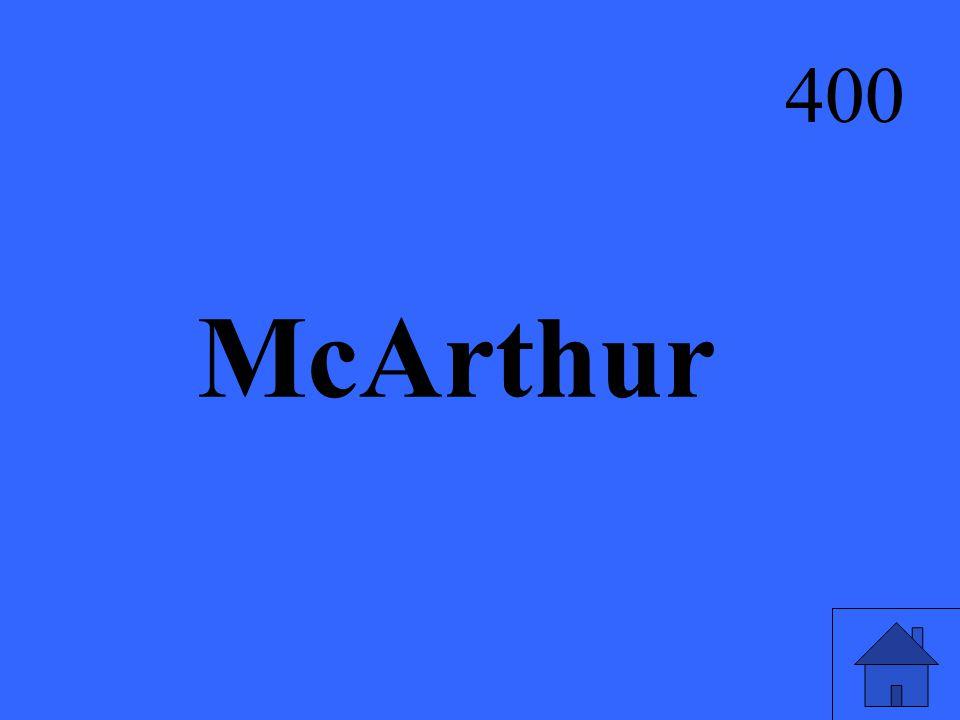 McArthur 400