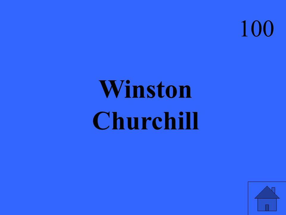 Winston Churchill 100