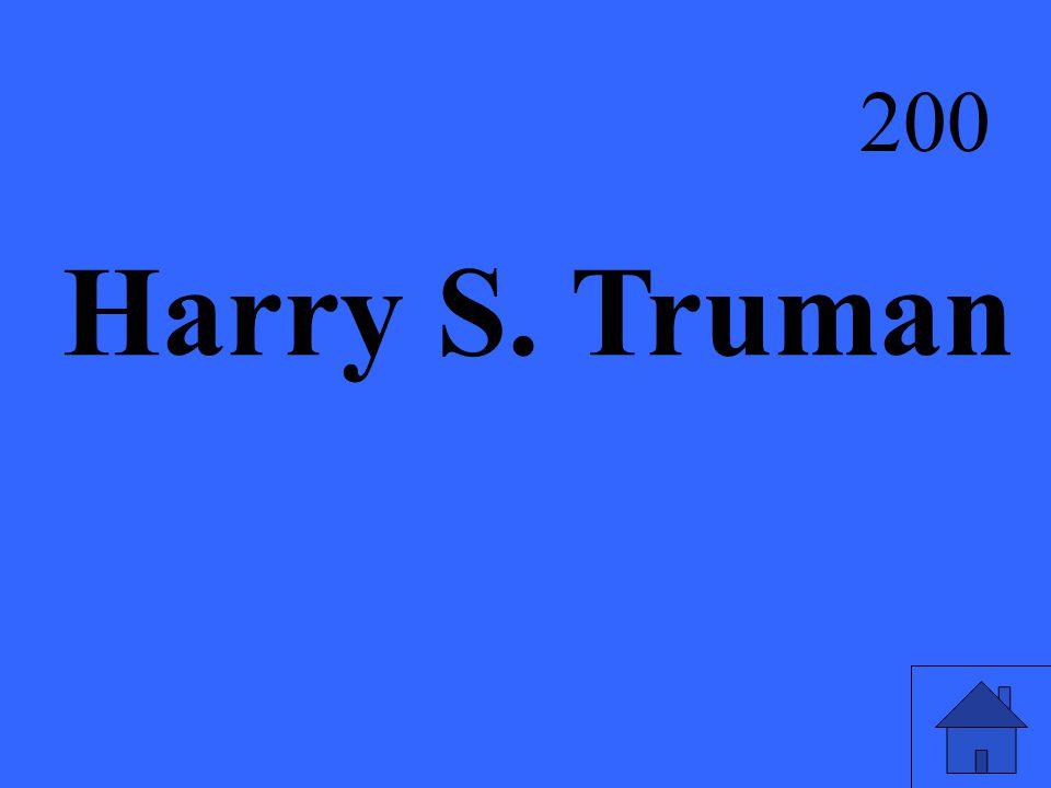 Harry S. Truman 200