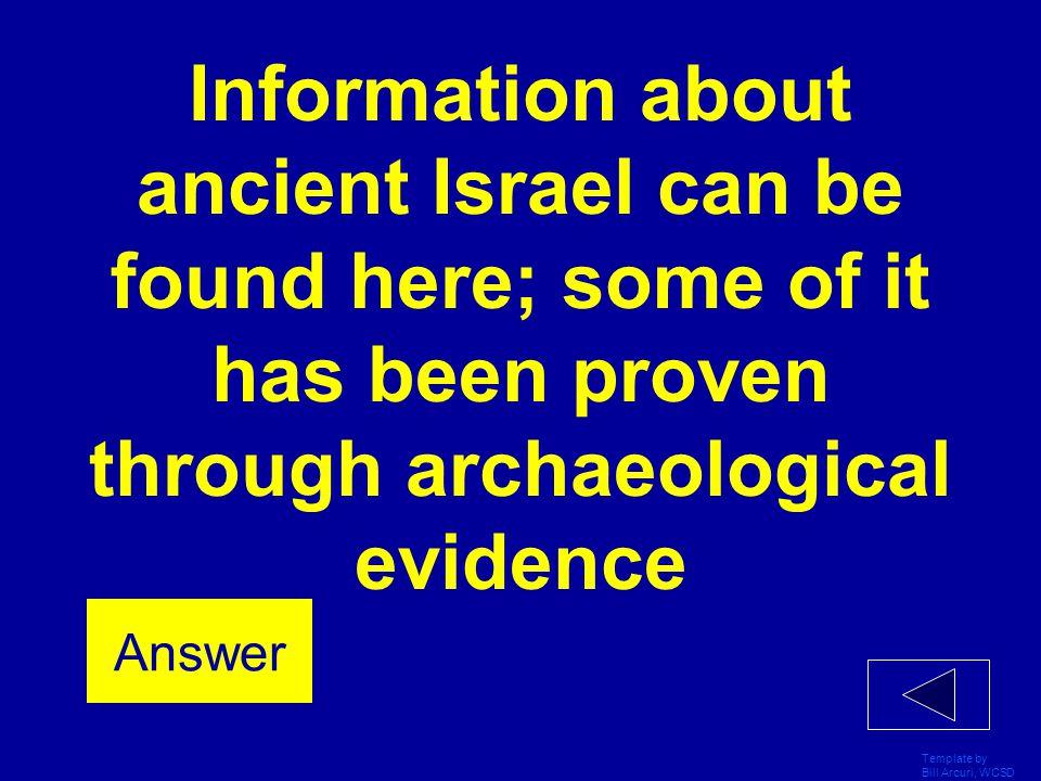 Template by Bill Arcuri, WCSD Israelites