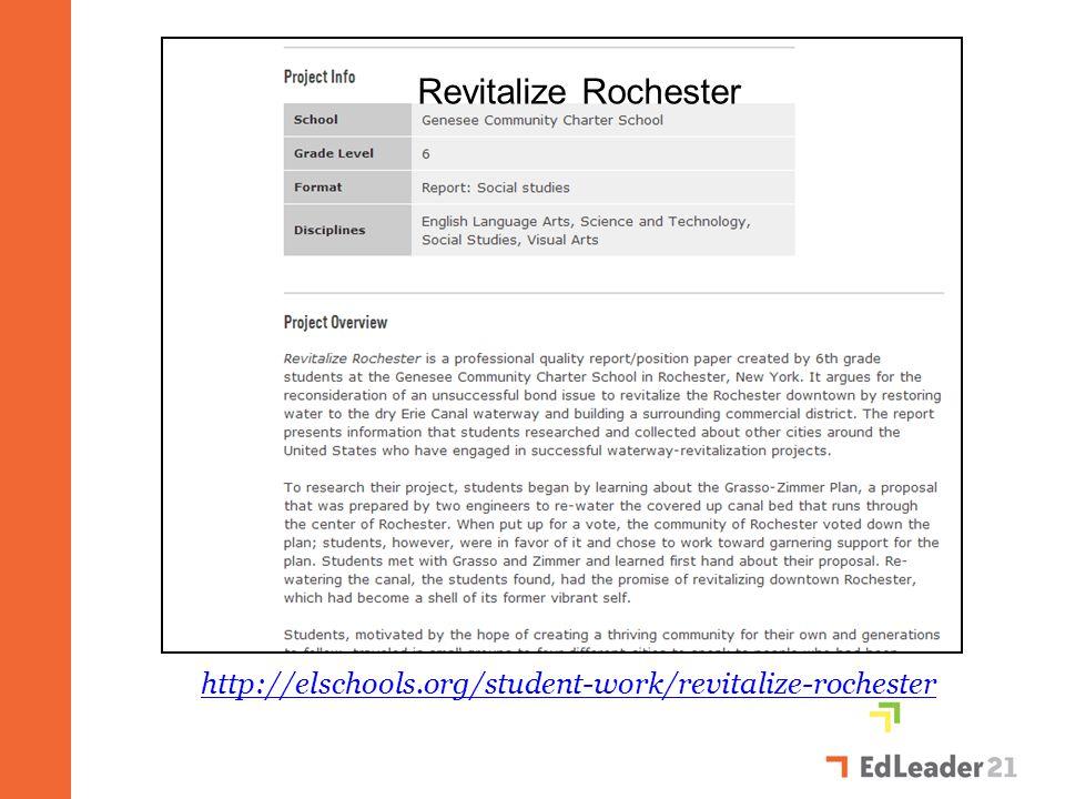 Revitalize Rochester http://elschools.org/student-work/revitalize-rochester
