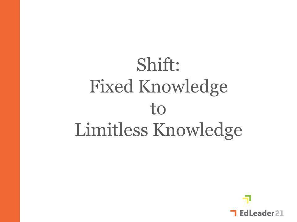 Shift: Fixed Knowledge to Limitless Knowledge