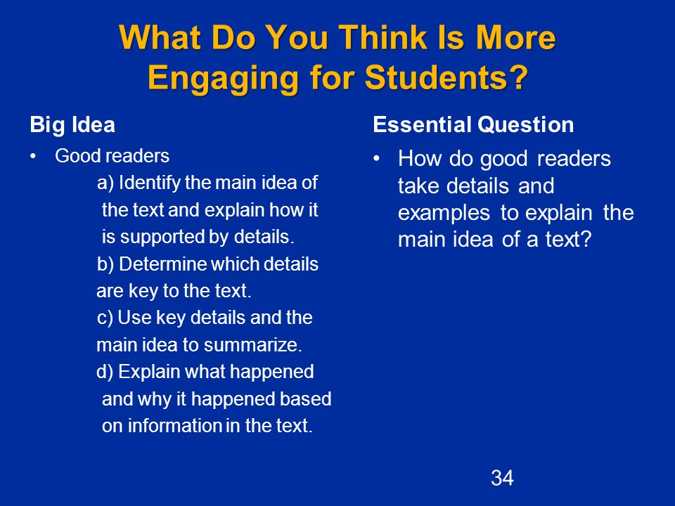 What Do You Think Is More Engaging for Students.