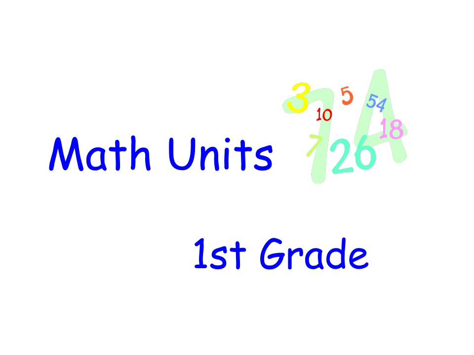 Math Units 1st Grade 75