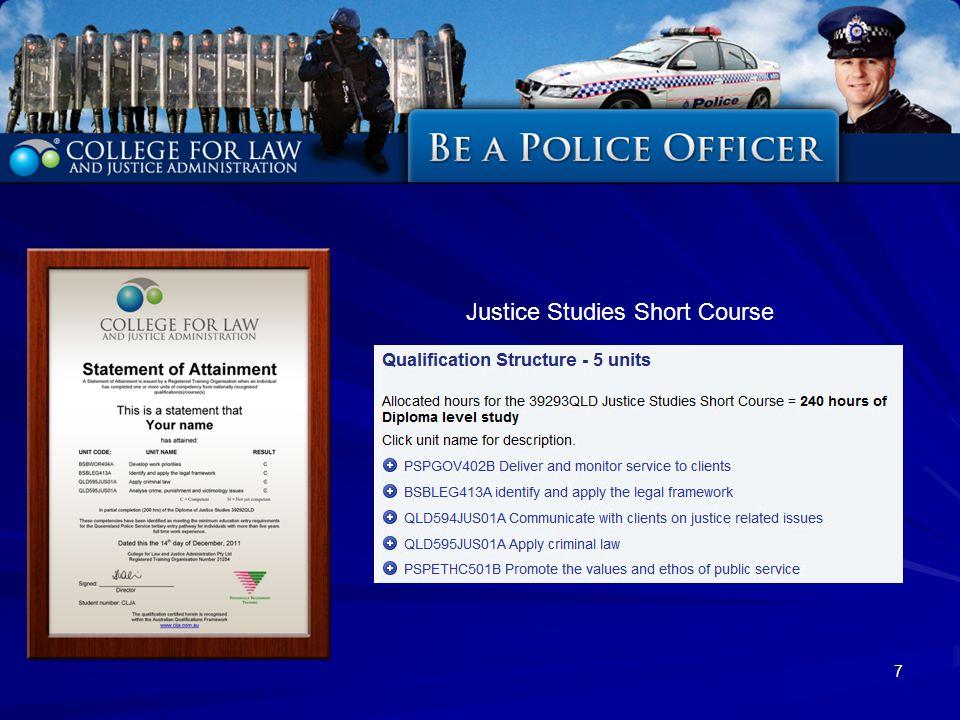 7 Justice Studies Short Course