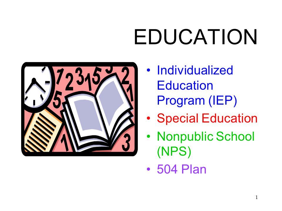 12 Individualized Education Program (IEP) Meeting Attendees: Core participants: –Holder Of Education Rights –Administrator –School Psychologist –Special Education Teacher –General Education Teacher –Group Home Provider (if child resides in a group home) And if appropriate: –Child –CSW –Child's Attorney –Other District Staff