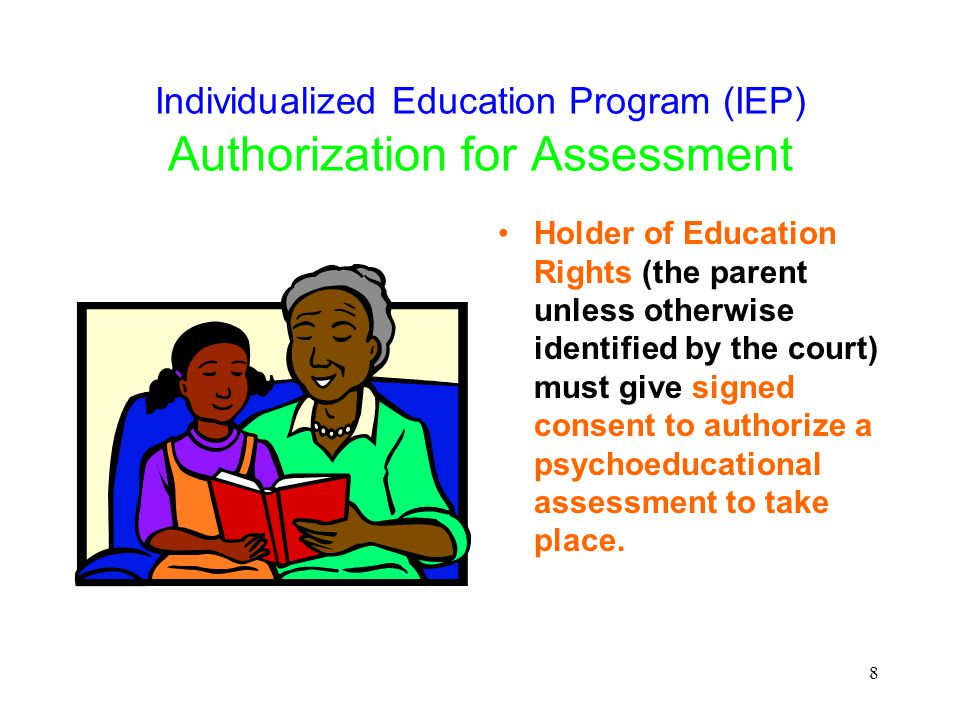 29 Special Education Services Provided Are based on: –Assessments –Multidisciplinary team meeting –Outcomes of the IEP meeting –Individual to the child –Ongoing status reviews of prescribed IEP meetings