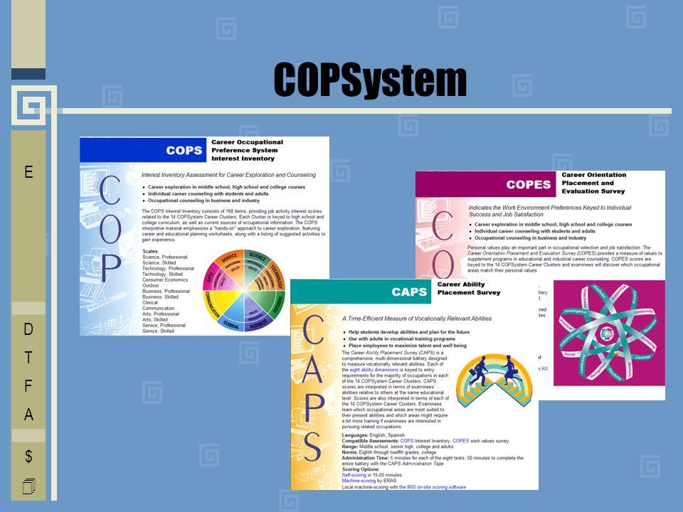 COPSystem I E C O L V D T F A $ 