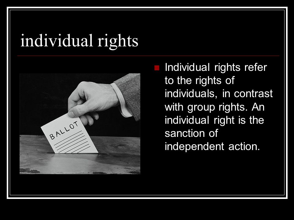majority rule and individual rights The conflict between majority rule and individual rights is freedom.