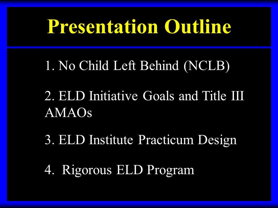 ELD Institute Practicum For Teachers SeminarsPracticumPeer Coaching Teachers receive research based seminars and view demo lessons.