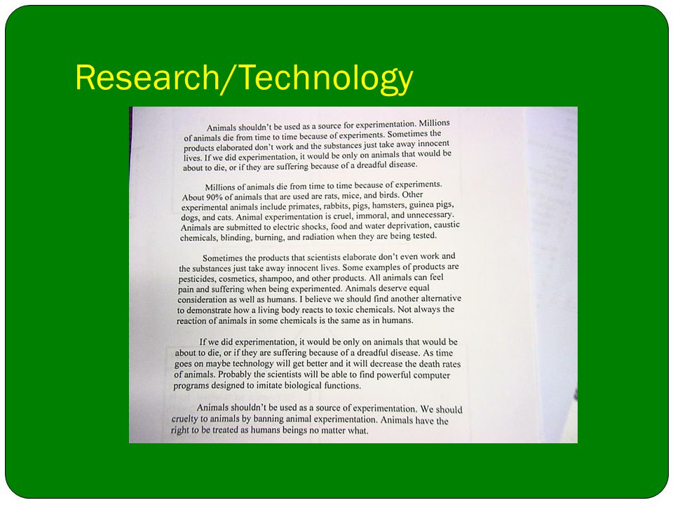 Research/Technology