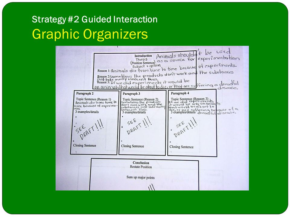 Strategy #2 Guided Interaction Graphic Organizers