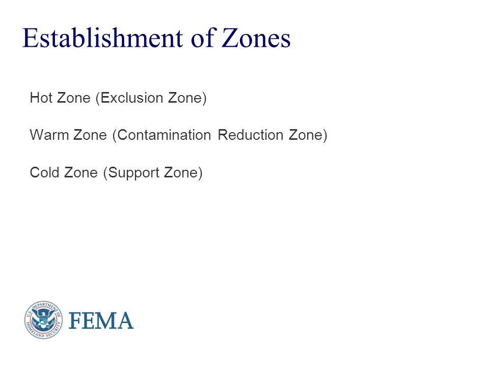 Presenter's Name June 17, 2003 Establishment of Zones Hot Zone (Exclusion Zone) Warm Zone (Contamination Reduction Zone) Cold Zone (Support Zone)