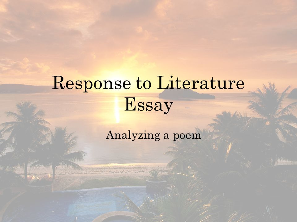 Objective: We will annotate and analyze the prompt and poem Task 1: read the prompt and determine key words.