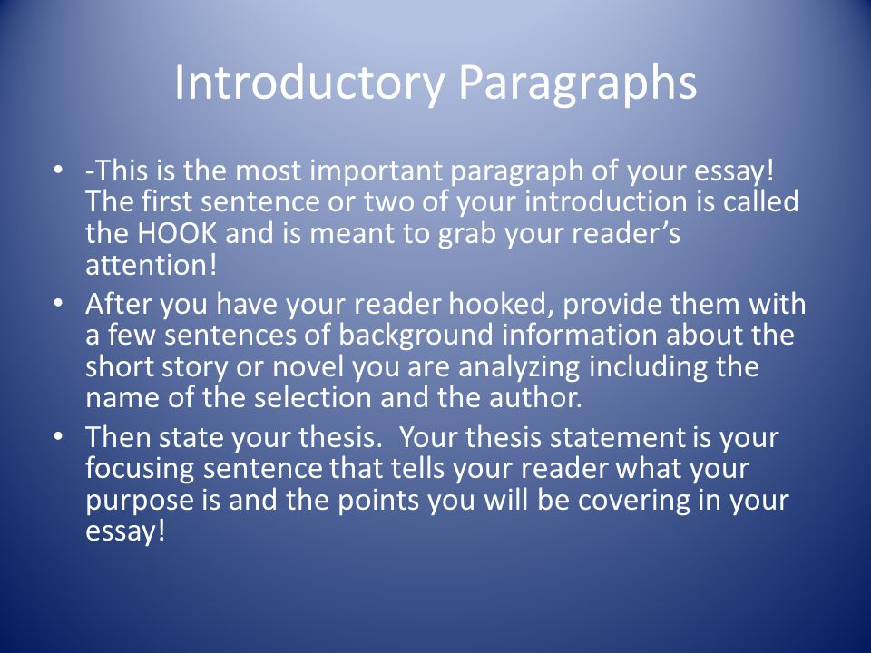 Body Paragraphs I – II Concrete Detail Response to literature is similar to persuasive writing in that you are always striving to prove your point, in this case, your thesis statement.