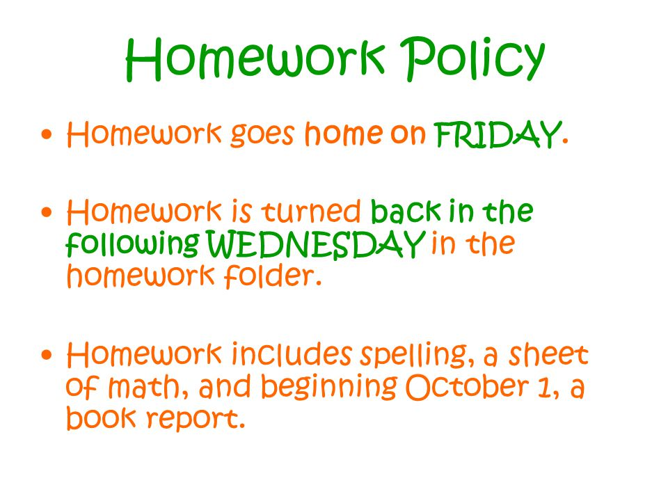 ccsd homework policy