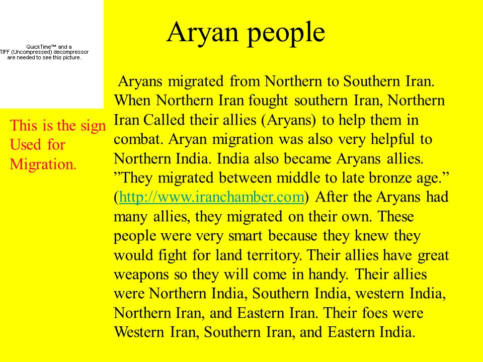 Aryan people Aryans migrated from Northern to Southern Iran.