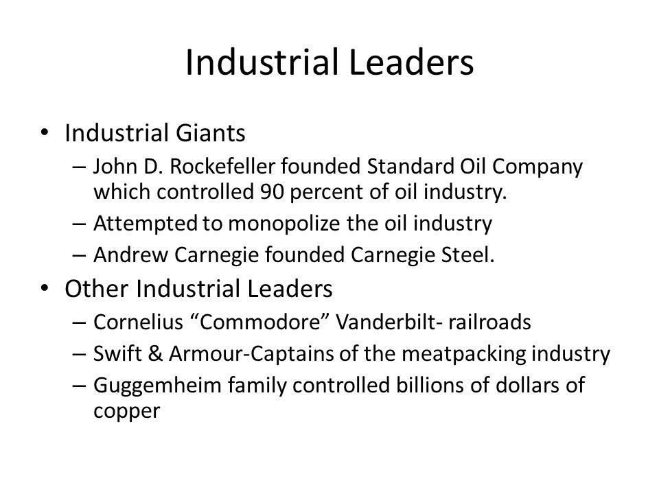 Industrial Leaders Industrial Giants – John D.