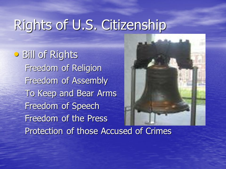 Rights of U.S.