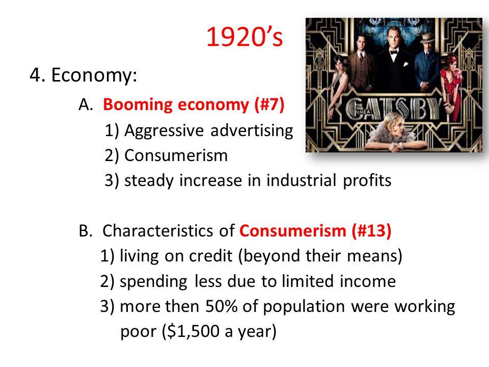 1920's 4.Economy: A.