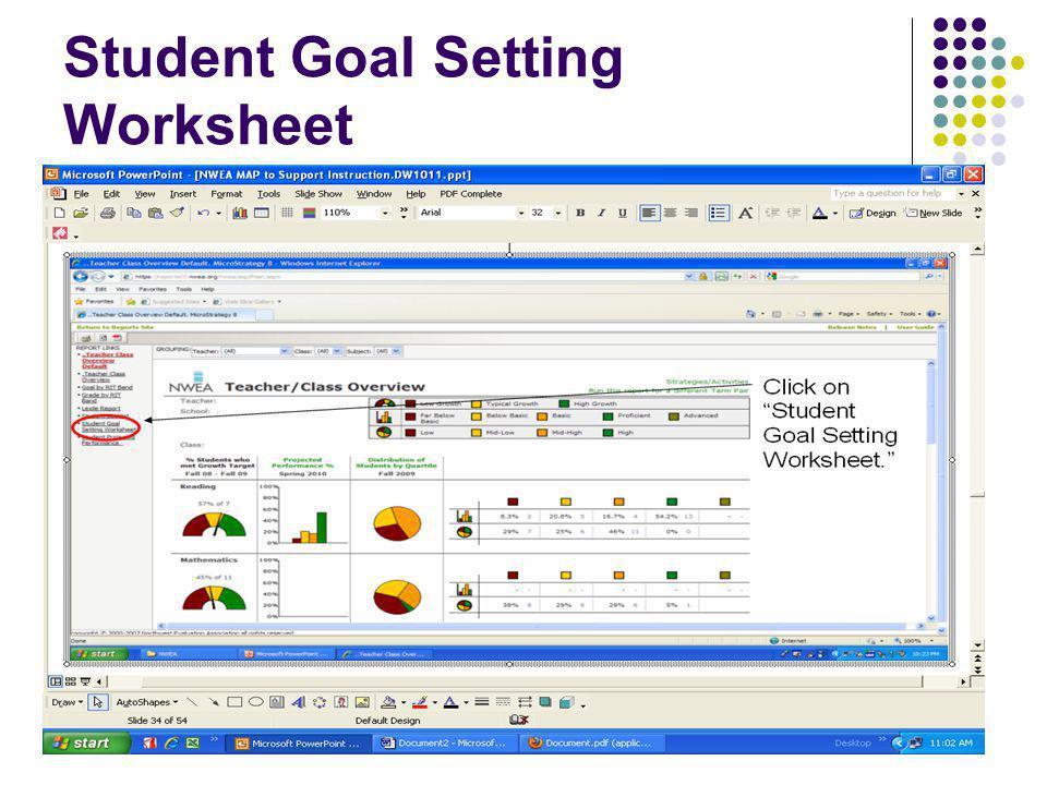 "44 Student Goal Setting Worksheet Click on ""Student Goal Setting Worksheet."""