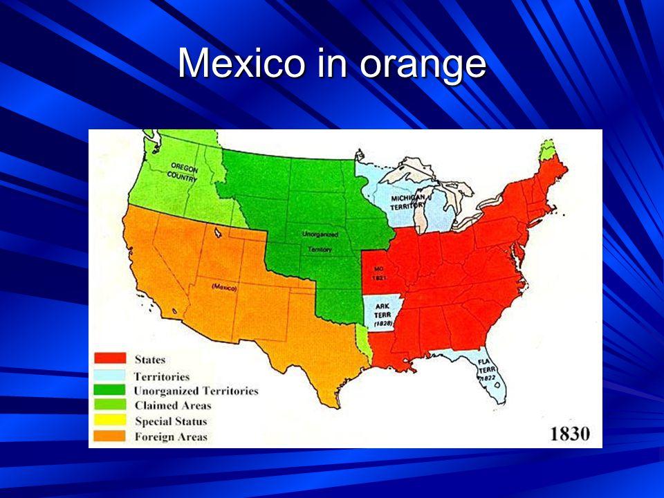 Mexico in orange
