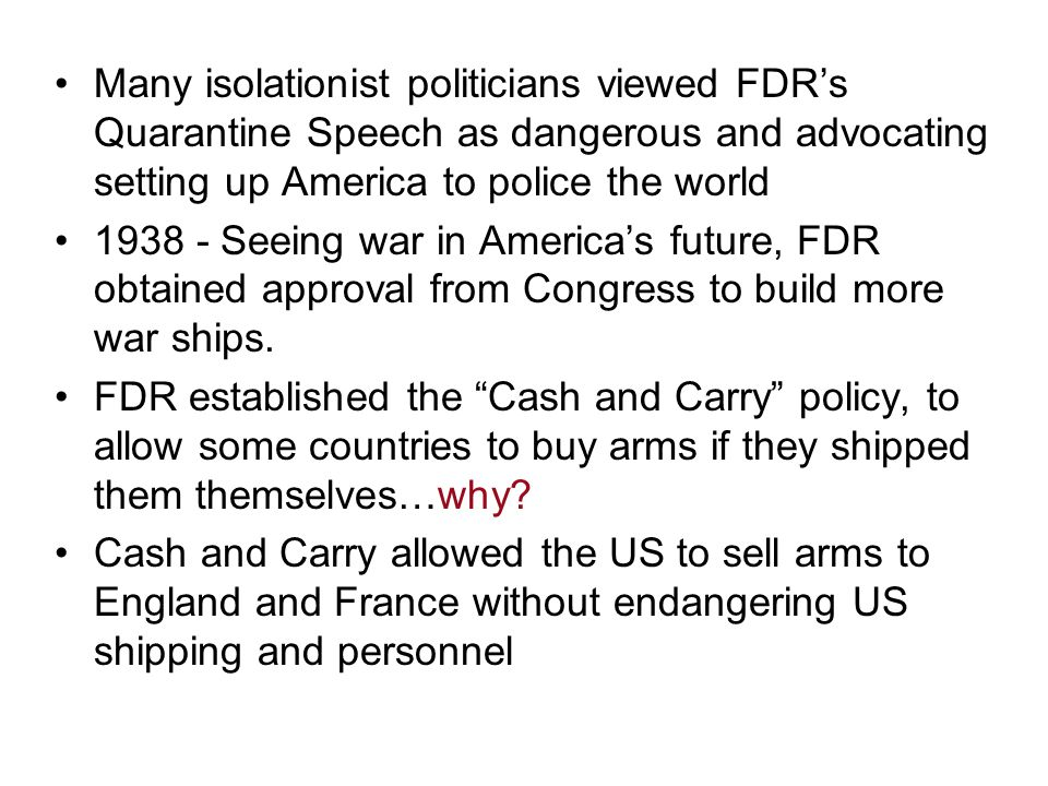 German victories in 1940 convinced FDR to start a all aid short of war policy to aid Britain.
