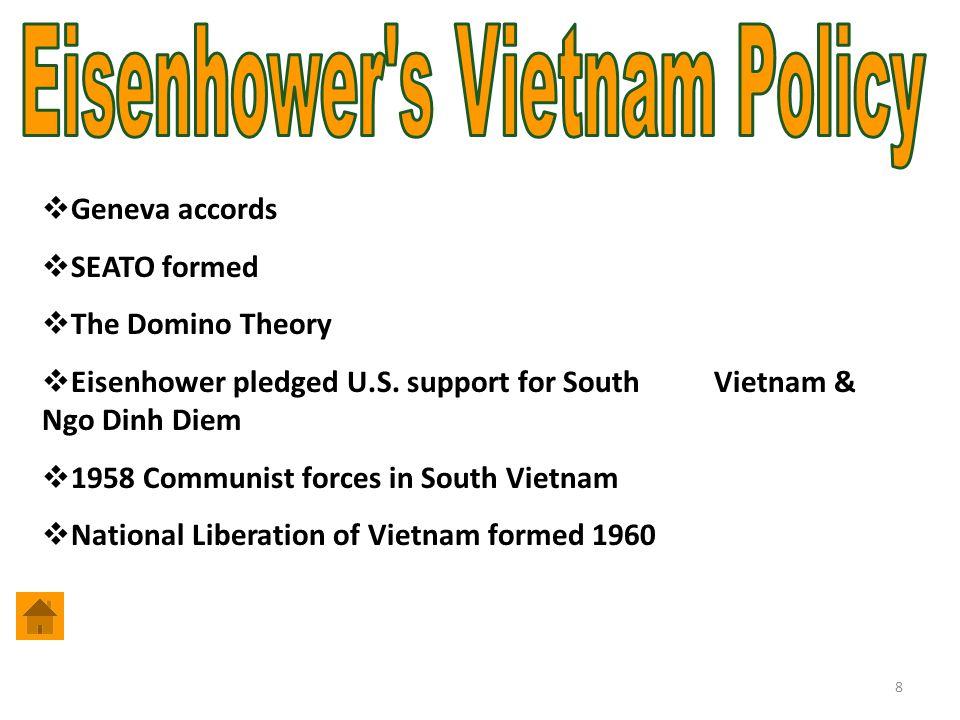8  Geneva accords  SEATO formed  The Domino Theory  Eisenhower pledged U.S.