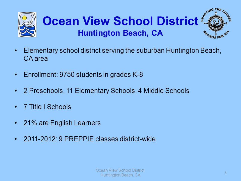 Ocean View School District, Huntington Beach, CA 3 Ocean View School District Huntington Beach, CA Elementary school district serving the suburban Hun