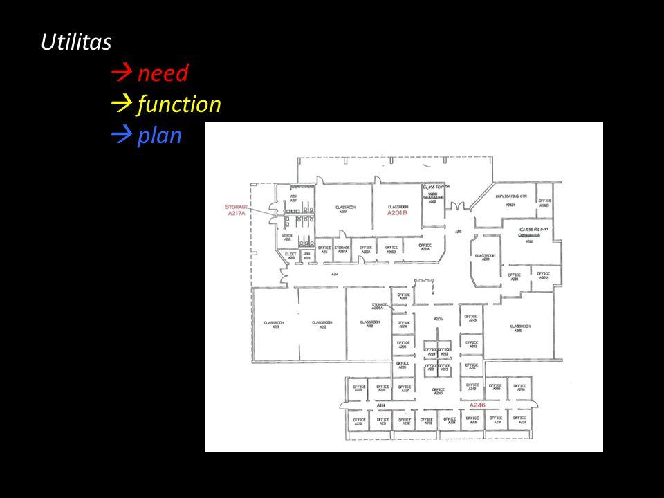Utilitas  need  function  plan