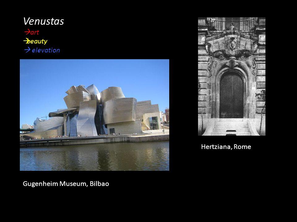 Venustas  art  beauty  elevation Hertziana, Rome Gugenheim Museum, Bilbao