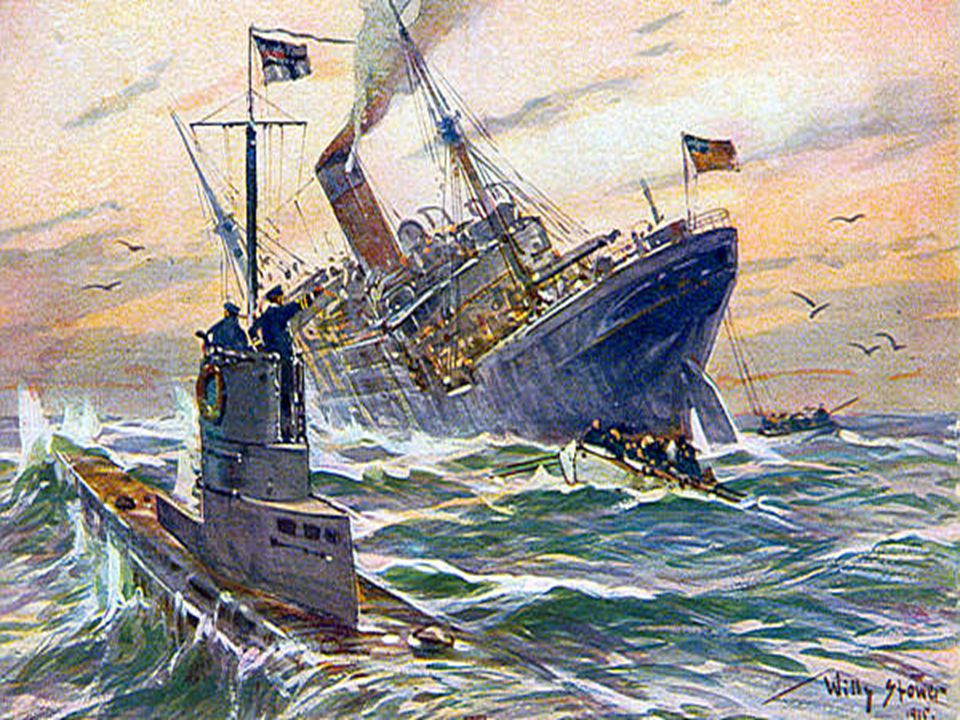 The final straw Germany resumed unrestricted submarine warfare and sank American ships without warning.