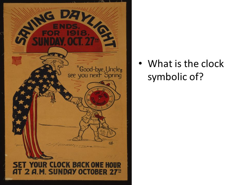 What is the clock symbolic of?