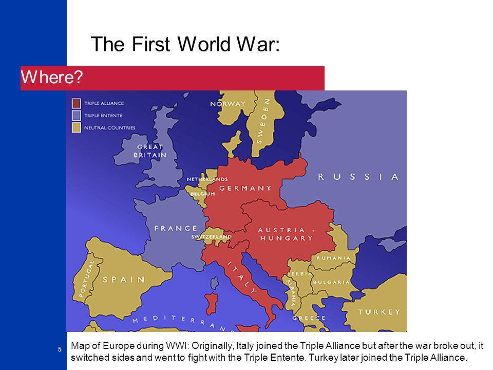 5 The First World War: Where.
