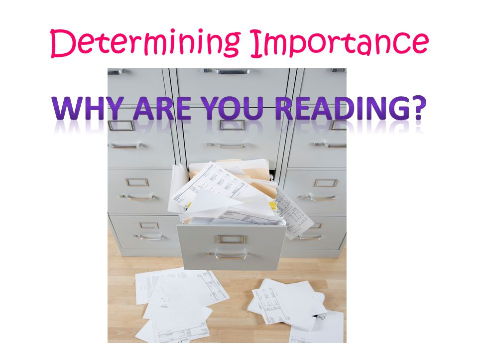 Determining Importance